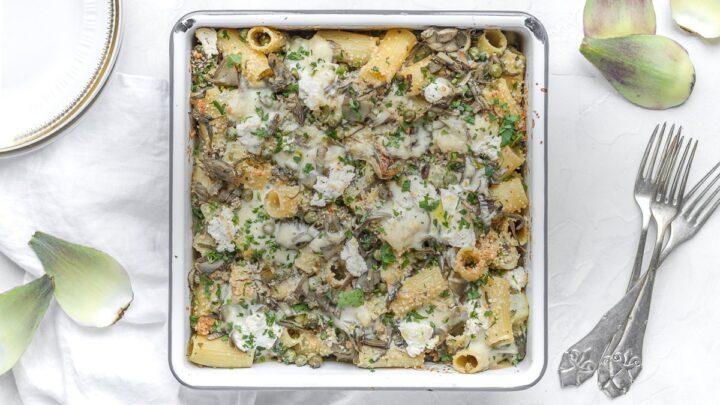 artichoke pasta bake