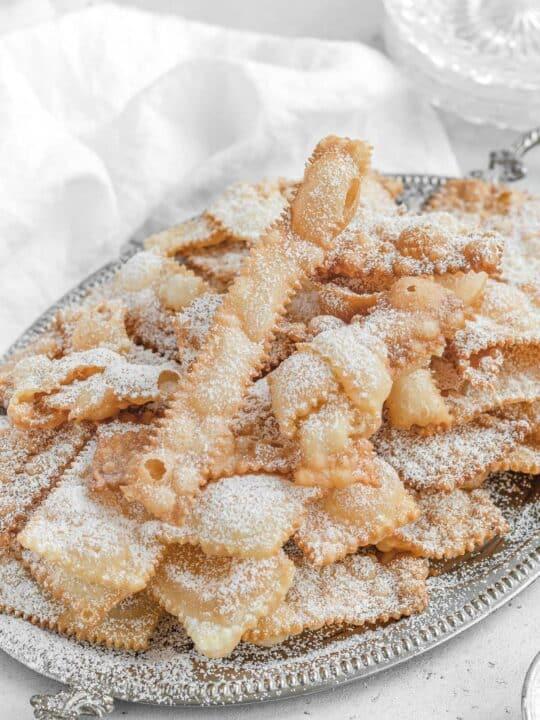 Italian Chiacchiere deep fried