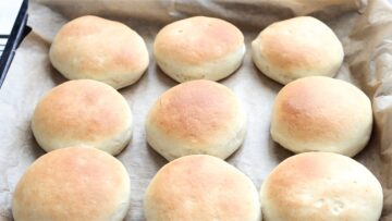 Baking the bomboloni at 180C for 13 minutes