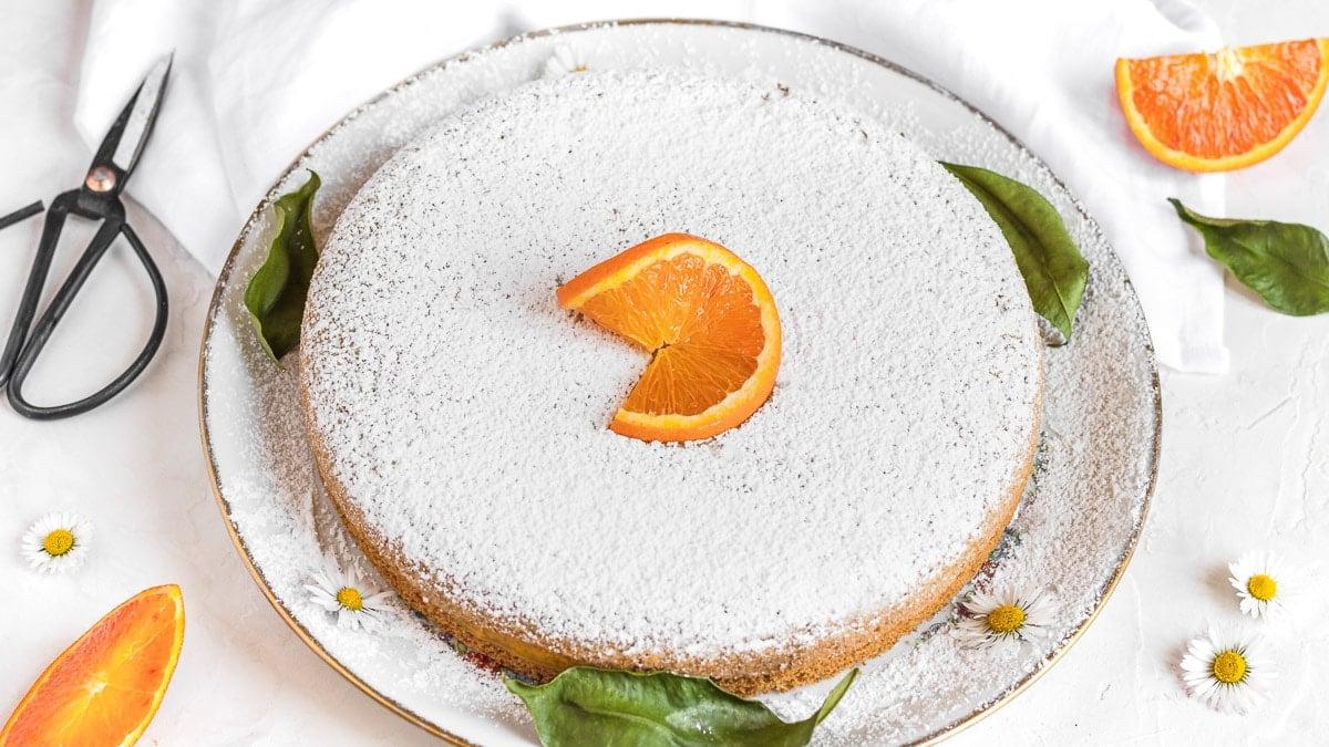 torta soffice all'arancia vegan