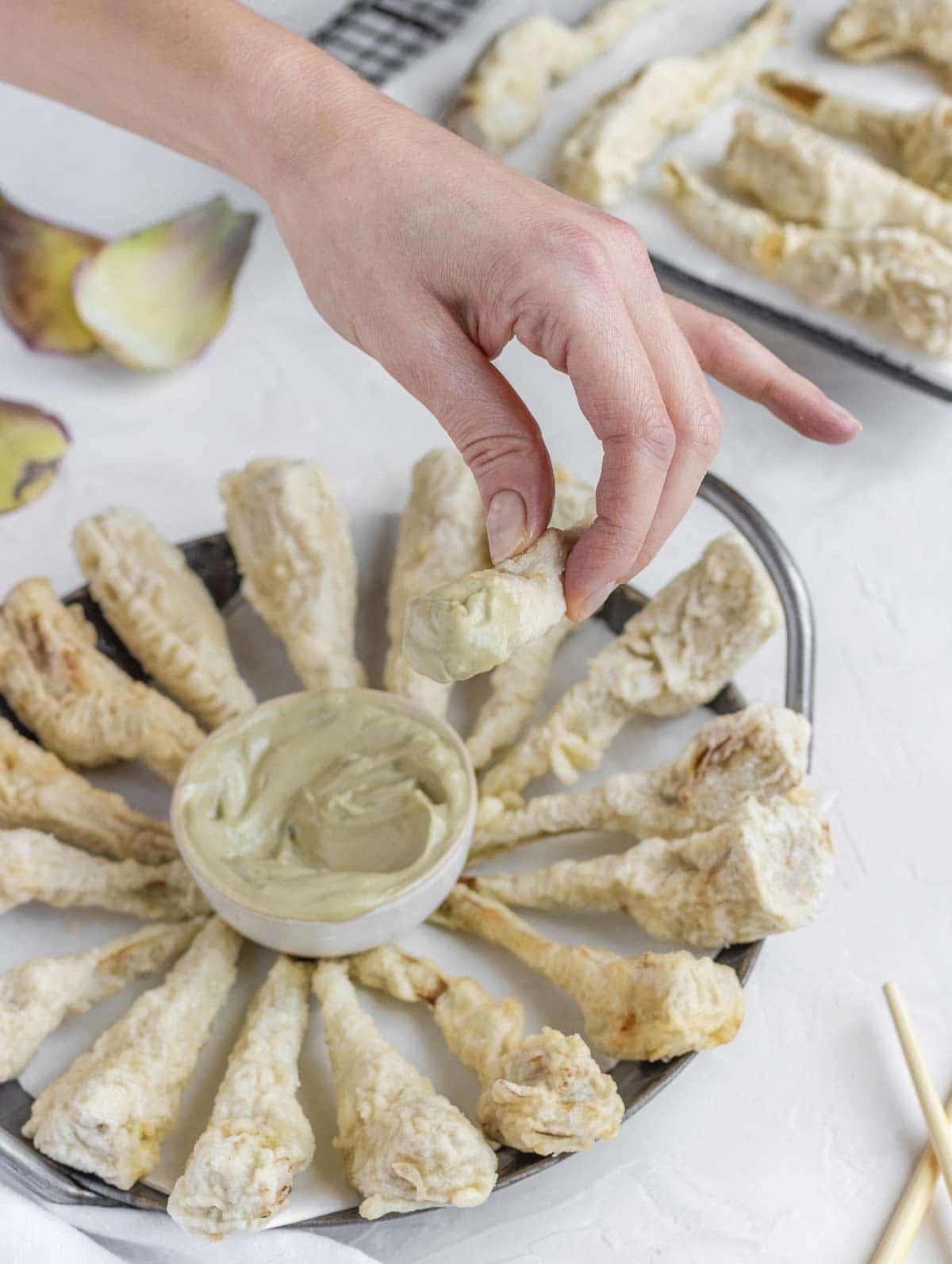 Vegan artichoke mayonnaise