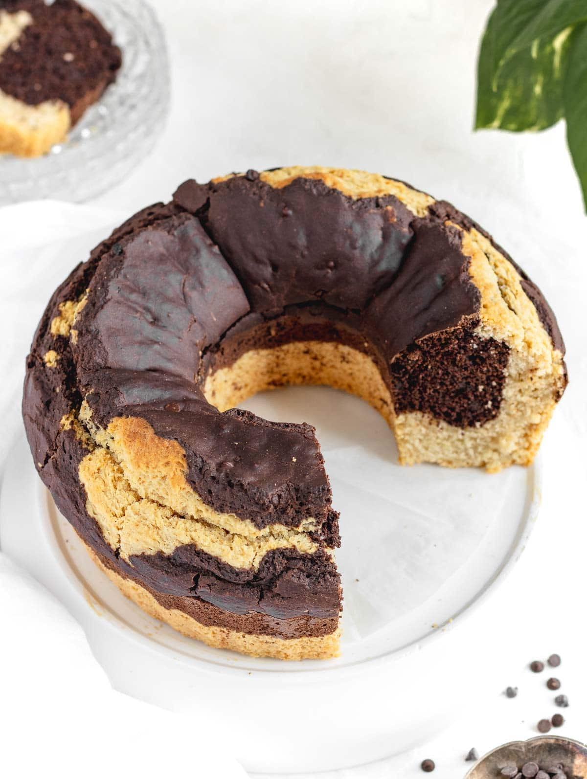 vegan black and white ciambellone