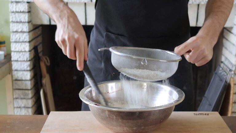 setaccio farina e lievito