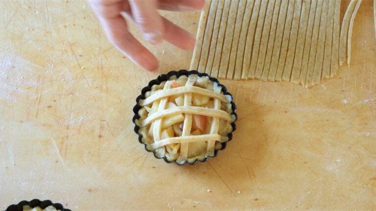 mini apple tart ready to bake