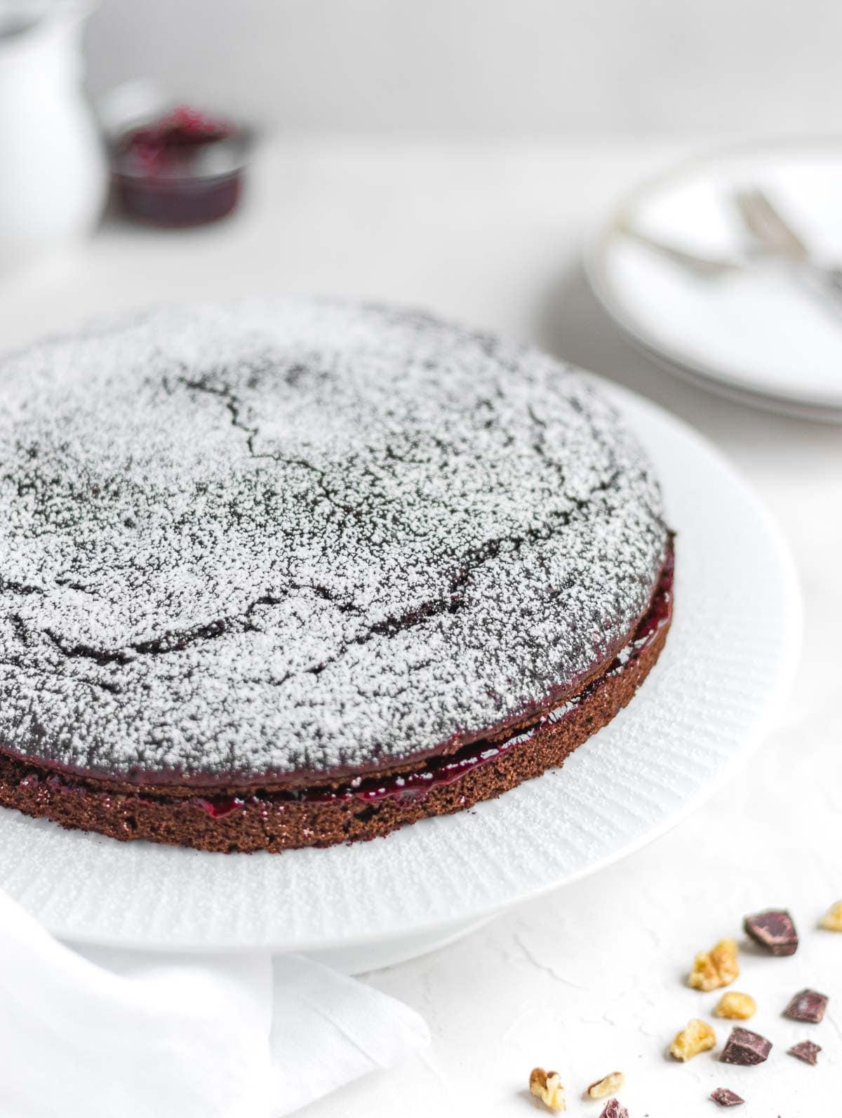 torta al cioccolato e amarena senza uova
