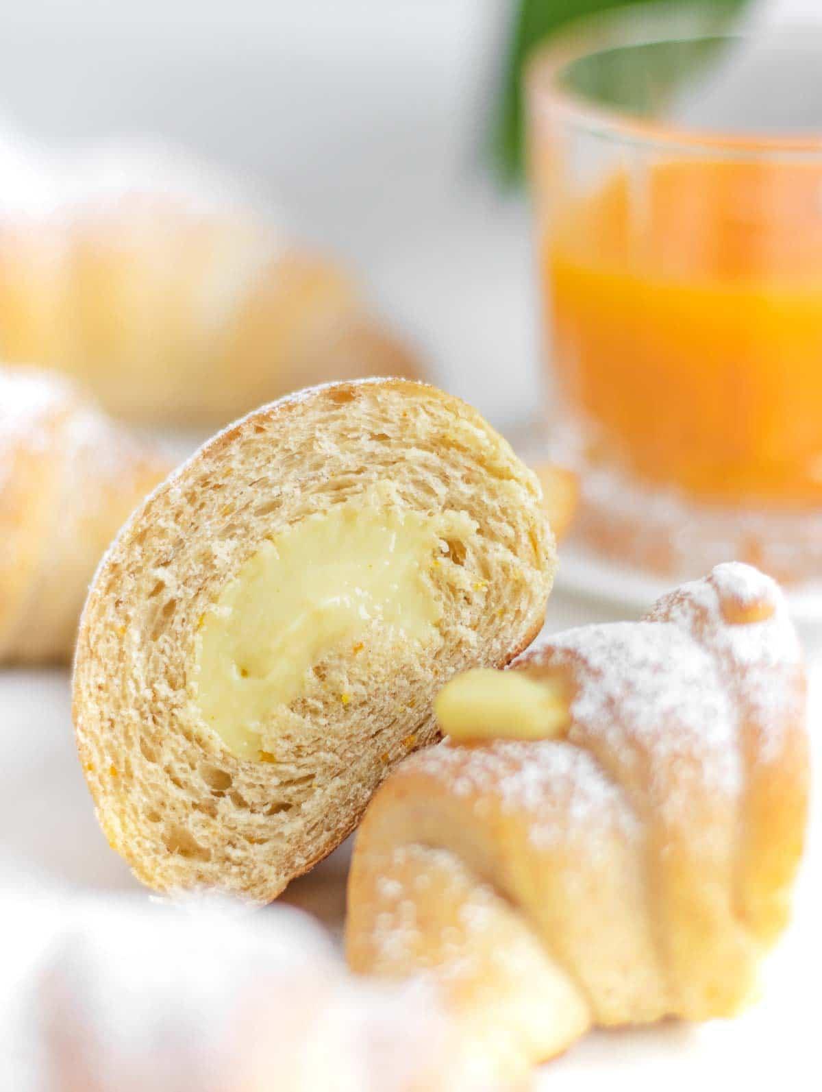 cornetti - Italian croissant zoomed in
