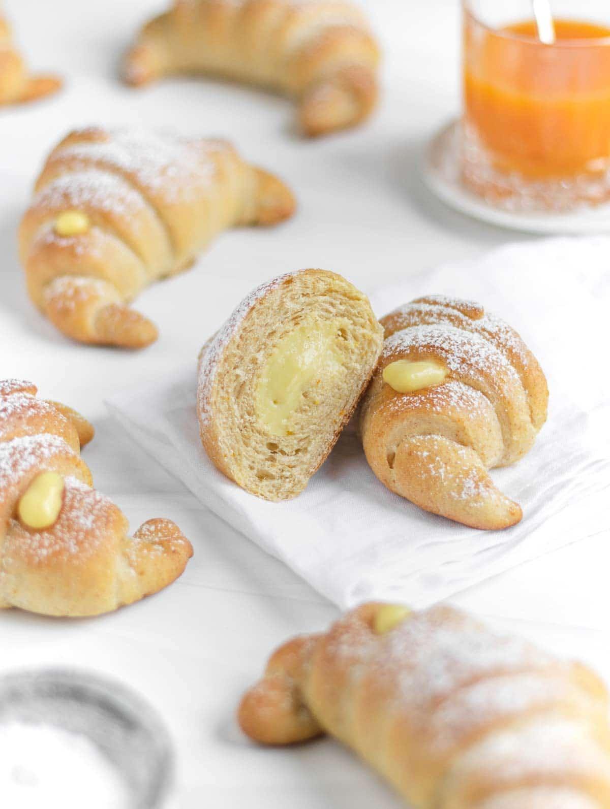 vegan cornetti - Italian croissants