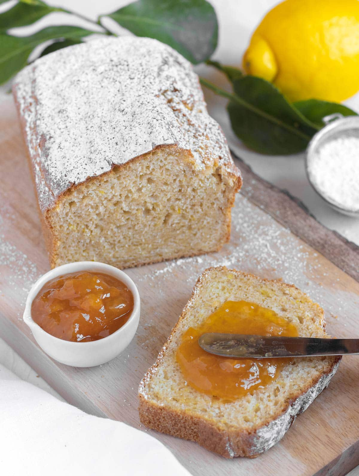 slice of cake with apricot jam