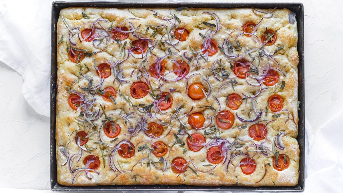no knead Italian rustic focaccia