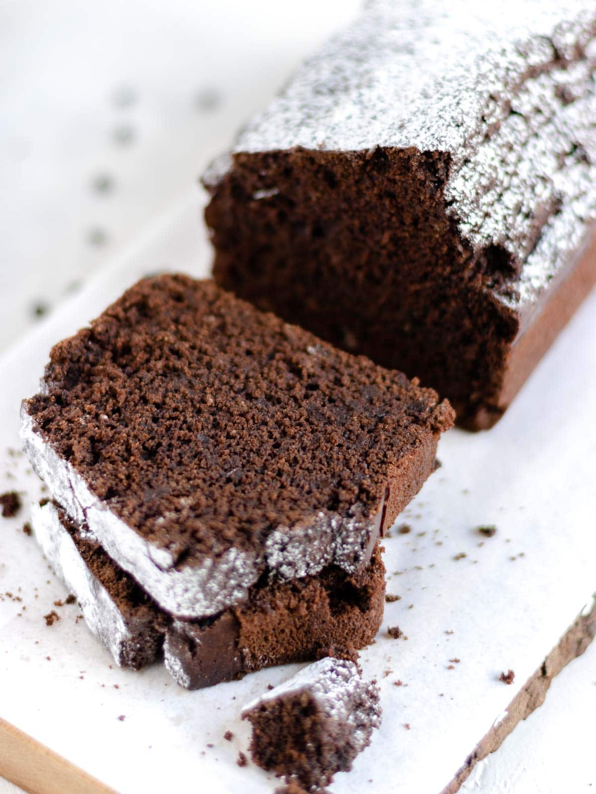slices of chocolate pound cake
