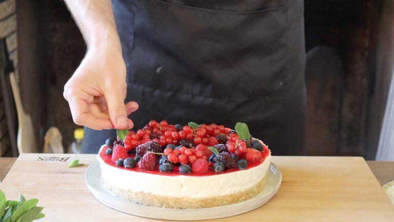 adding fruit on top