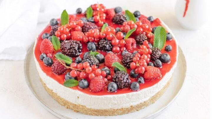no-bake vegan cheesecake no-cashews