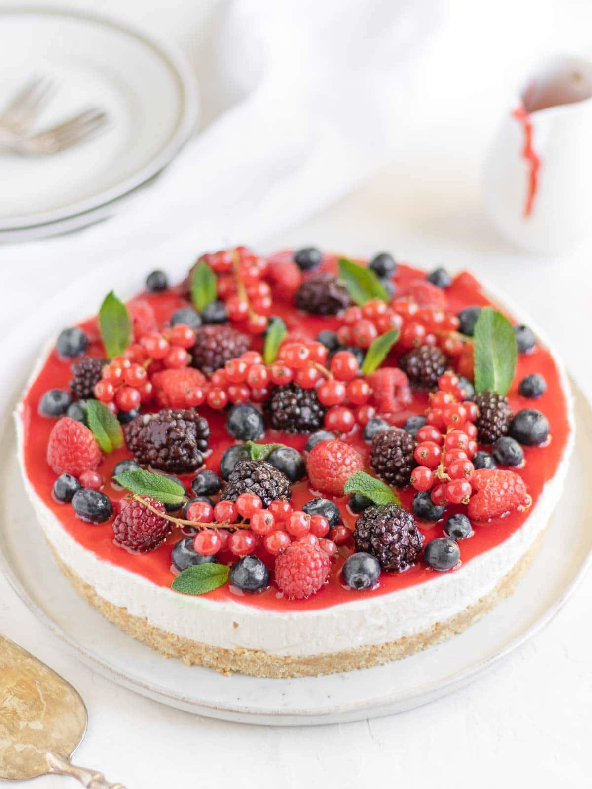 no-bake vegan cheese cake
