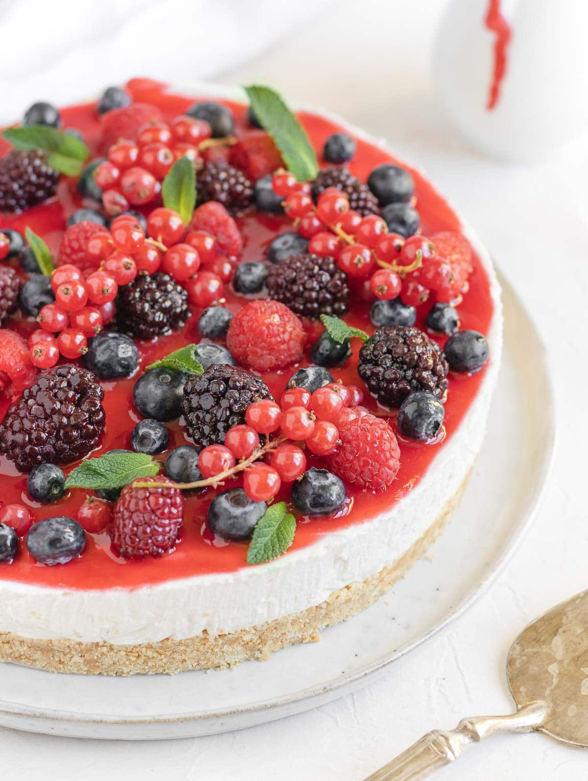 no-bake vegan cheesecake no nuts