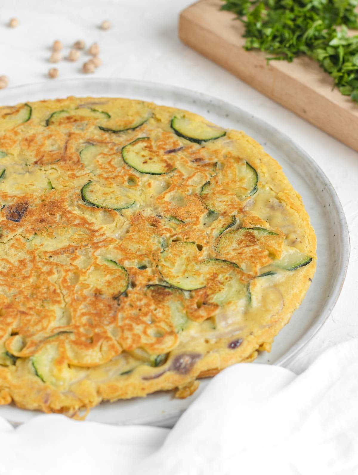 frittata senza uova con le zucchine