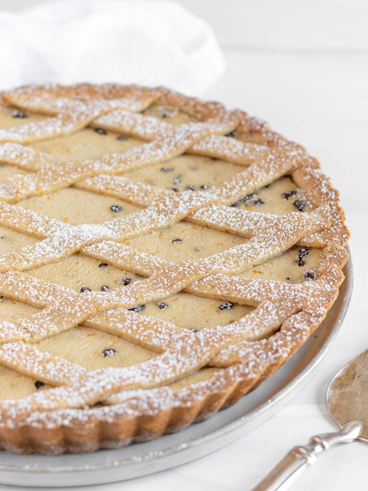 whole vegan ricotta pie - Italian recipe