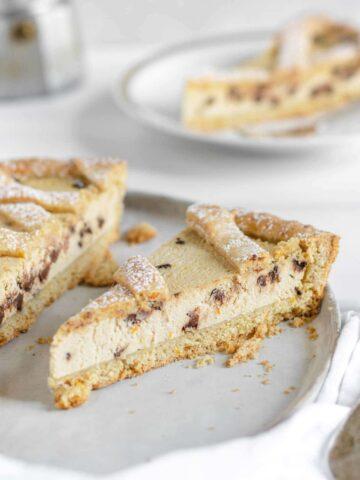 crostata vegana ricotta e cioccolato