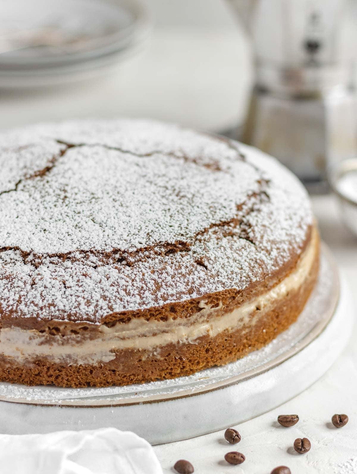 torta al caffè vegana