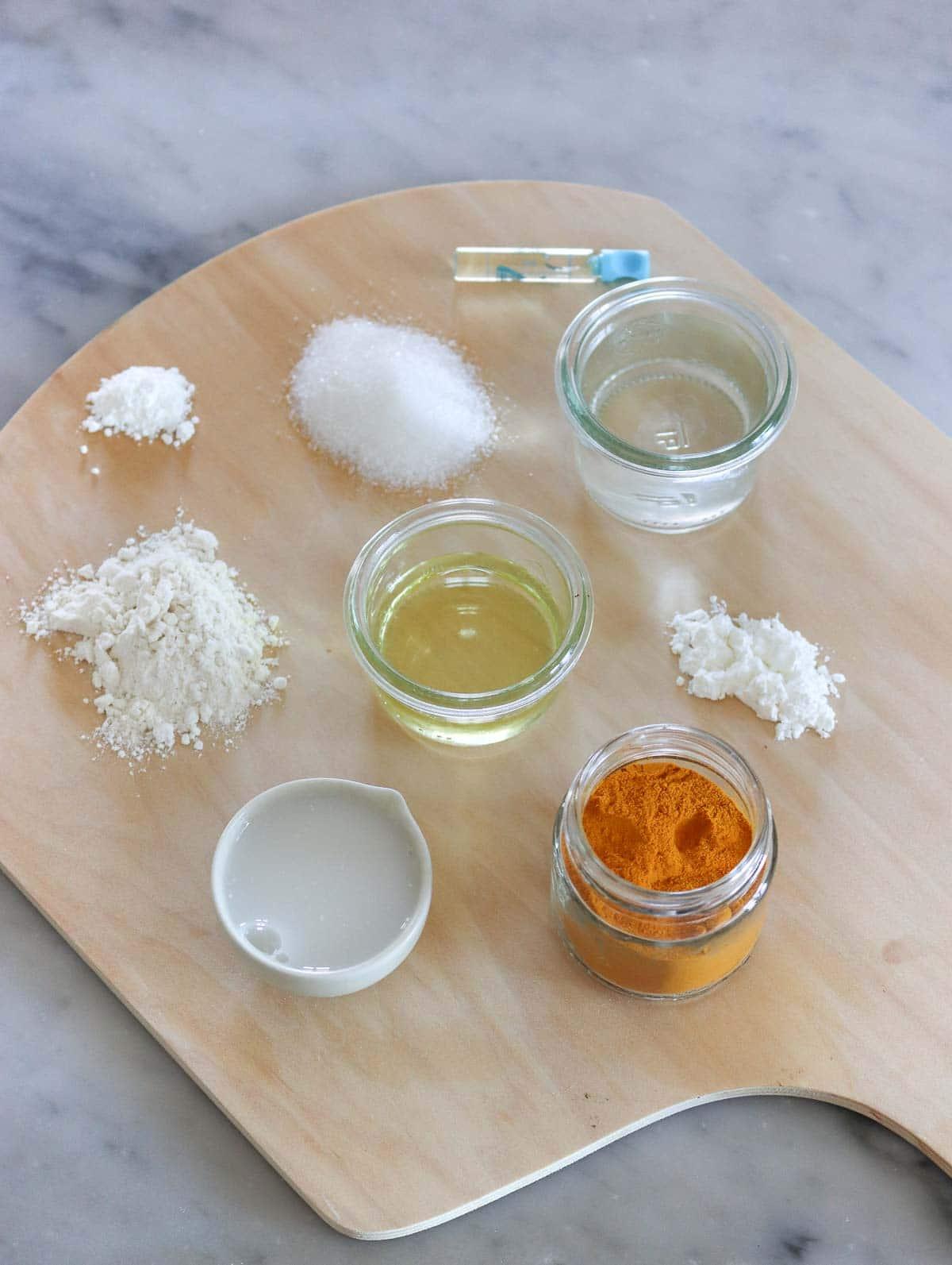 ingredienti per la crostata di frutta