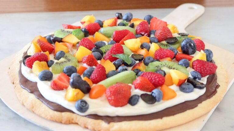 fruit pizza is ready