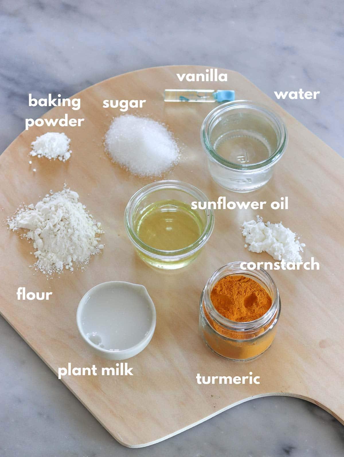 ingredients for fruit tart