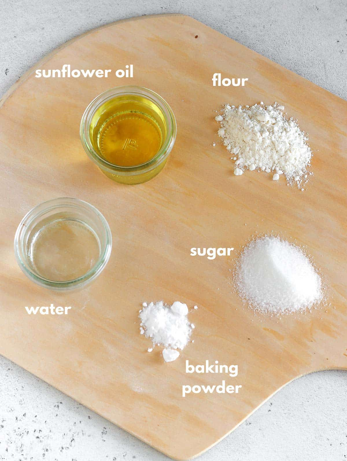 ingredients for the pie crust
