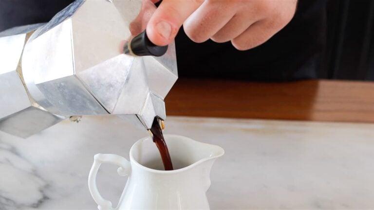 espresso from Italian moka