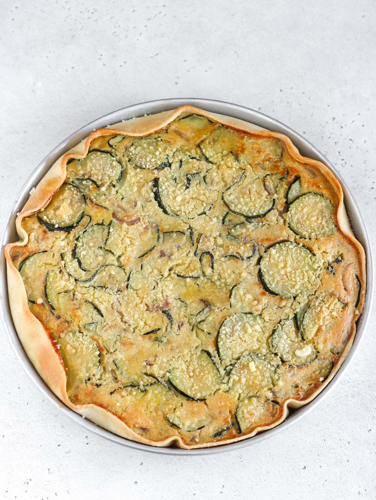 zucchini and onion pie
