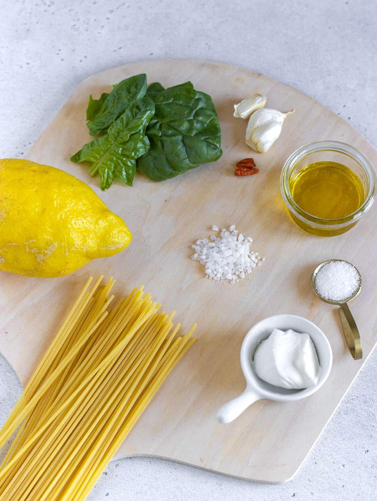 ingredients for lemon pasta