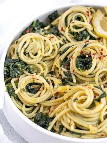 garlic lemon pasta