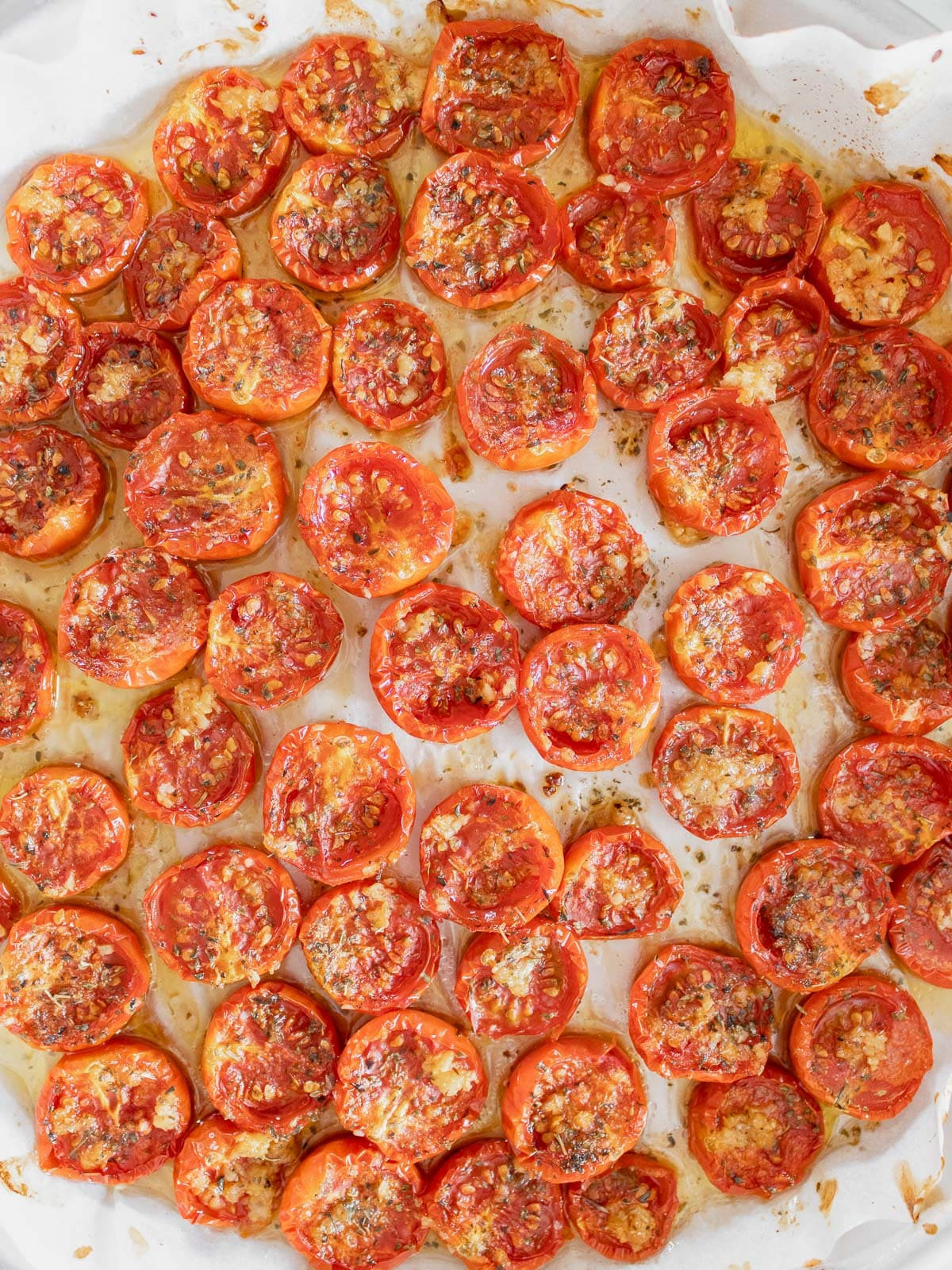 slow cooked tomatoes