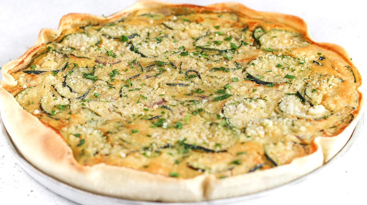 vegan zucchini pie