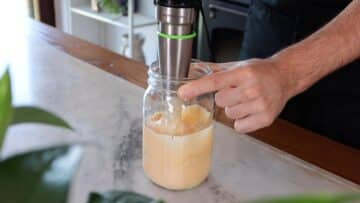 blend with an immersion blender