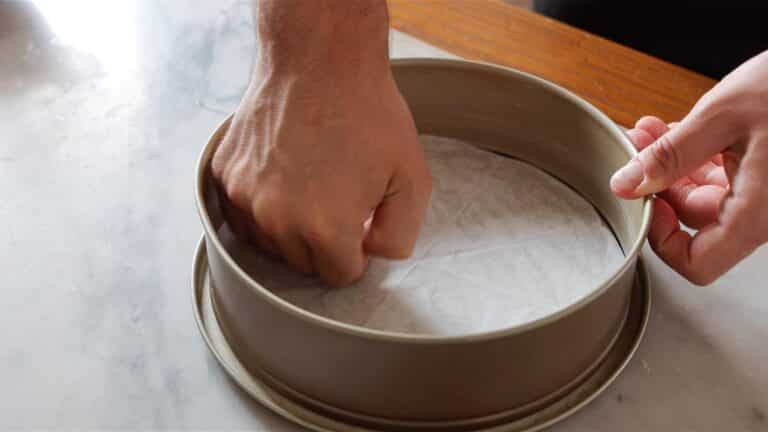 preparing the springform pan