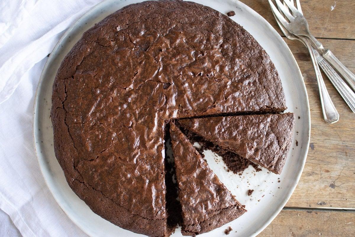 just baked brownie cake